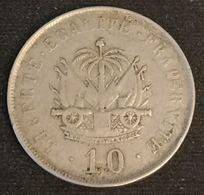 HAITI - 10 CENTIMES 1906 - KM 54 - Président Pierre Nord Alexis - Haïti