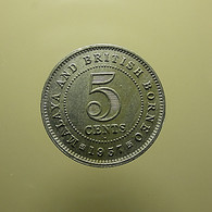 Malaya And British Borneo 5 Cents 1957 - Malaysie