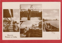 CPA: Liberia - Monrovia - Shipment Of Coffee - Expédition Du Café (Dlinklage Jr, Monrovia) - Liberia