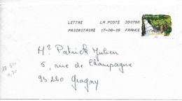 FRANCE 2009  ARBRES   / YT AA  310 / EPICEA Franche-Comté  / Sur Lettre Voyagée 2009 +++ - 1961-....