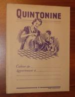 PROTÈGE CAHIER - QUINTONINE - Années 50 - 18x24 - Bon Etat D'usage : Voir Photos - 30 - Protège-cahiers