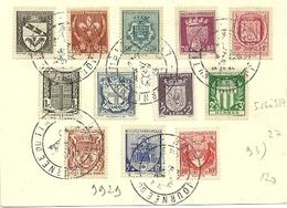 RHONE - Dépt N° 69 = LYON 1942 = CACHET  Illustré = 'Journée Du TIMBRE ' Sur Série Complète ARMOIRIES N° 526 537 - Marcophilie (Lettres)