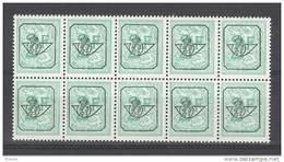 BELGIE - OBP Nr PRE 793 P2 (blok Van 10) - Typo Cijfer Op Leeuw - Préo/Precancels -  - MNH** - Precancels