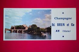 Buvard Champagne Ed. BRUN Et Cie, Ay Dans La Marne - Non Classificati