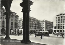 LIVORNO - PIAZZA GRANDE - ANIMATA - FILOBUS - VIAGGIATA - Livorno