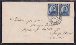 Yugoslavia, Kingdom, 1922, Railway TPO Cancellation, Banja Luka - Zagreb, 28 - Briefe U. Dokumente
