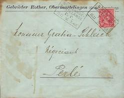 Luxembourg  -  Lettre  -15.11.1906  Gebrüder Rother , Obermartelingen - Storia Postale