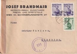 AUTRICHE     LETTRE CENSUREE DE WIEN POUR NÜRNBERG - 1945-.... 2nd Republic