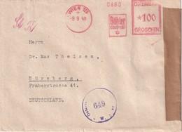 AUTRICHE 1948     LETTRE CENSUREE EMA DE WIEN POUR NÜRNBERG - Machine Stamps (ATM)