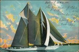 """Schiffe Schifffahrt Segelschiffe Segelboote Serie """"Segelsport"""" 1906 - Voiliers"""