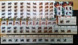 XX198 2011 !!! IMPERF, PERF BURUNDI FAUNA WILD ANIMALS LES HIPPOPOTAMES 20SET+18KB+16 LUX BL MNH - Stamps