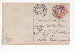 Neder Hardinxveld Grootrond - 1913 - Poststempel