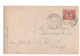 Noord Scharwoude Grootrond - Weesp Langebalk 1 - 1912 - Poststempel