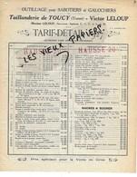 89 - Yonne - TOUCY - Facture LELOUP - Manufacture De Taillanderie - 1927 - REF 148D - 1900 – 1949