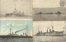 10534 Lot De 4 CPA Bateaux De Guerre - Guerre