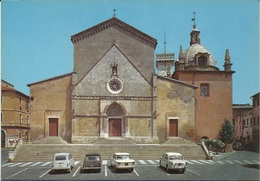 ORBETELLO (GROSSETO) - DUOMO - FIAT1100, FIAT 1500, RENAULT 4 - Andere Steden