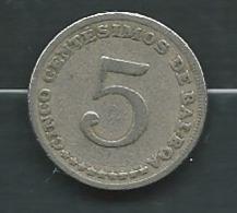 Panama 5 Centesimos 1968   - Pieb23201 - Panamá