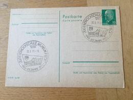 """K2 DDR Ganzsache Stationery Entier Postal P 75 Mit Sst. Von Der Jugendhochschule """"Wilhelm Pieck"""" - [6] Democratic Republic"""