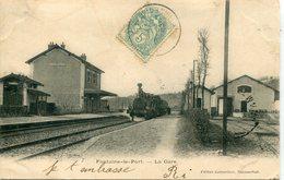 - 77-SEINE Et MARNE - FONTAINE-le-PORT - La Gare - Gares - Avec Trains