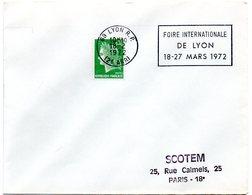 RHONE - Dépt N° 69 = LYON RP (2e ARR.) 1972 = FLAMME à DROITE =  SECAP 'FOIRE INTERNATIONALE' - Oblitérations Mécaniques (flammes)
