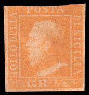 A.S.I. - Sicilia: Effige Di Ferdinando II - 1/2 Gr. Arancio - 1859 - Sicile