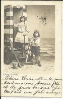 Oostende - Ostende Fotokaart Carte-photo Strandcabine Foto Le Bon Oostende 1904 - Oostende