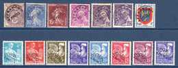 1922/60 France Préoblitérés Sans Gomme N°43,52/3,78,80/1,105/12,119      0,80 €  (cote 8 €  15 Valeurs) - Préoblitérés