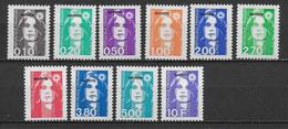 MAYOTTE - SERIE COMPLETE MARIANNE BRIAT YVERT N°32/41 ** MNH - COTE = 17.5 EUROS - Unused Stamps