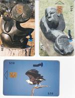 3 Télécartes ZIMBABWE Lot2 - Zimbabwe
