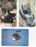 3 Télécartes ZIMBABWE Lot2 - Simbabwe