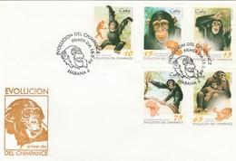 CUBA 1998 Shimpanzee FDC - Chimpancés