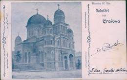 AK Romania Salutari Din Craiova Biserica Sf. Ilie (32660) - Rumania