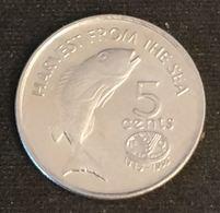 FIDJI - FIJI - 5 CENTS 1995 - Elizabeth II - 3e Effigie - FAO - KM 77 - Fiji