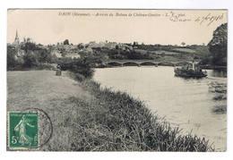DAON  ARRIVEE DU BATEAU DE CHATEAU GONTIER - France