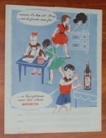 PROTÈGE CAHIER - Rhum NEGRITA - Enfants Cuisine - Bleu - Années 50 - 18x22.5 - Bon Etat D'usage : Voir Photos - 39 - Protège-cahiers