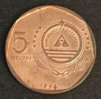 CAP VERT - CABO VERDE - 5 ESCUDOS 1994 - GUINCHO - KM 28 - Cap Verde