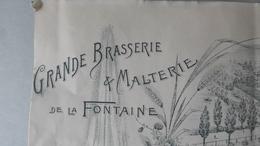 Grande BRASSERIE De La FONTAINE, Erbisoeul (Brulotte), Brasseur Gantois-Cappe (télégramme Jurbise) 1 Juillet 1906 - 1900 – 1949