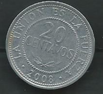Bolivie 20 Centavos 2008-   Pieb23303 - Bolivia