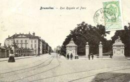 N°6674 -cpa Bruxelles -rue Royale Et Parc- - Forests, Parks