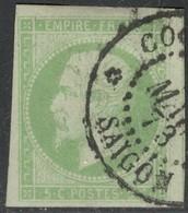 Colonies Générales Yvert 8 Grandes Marges! Petit Aminci Presque Luxe Cote EUR 500 (numéro Du Lot KB10) - Napoléon III