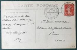 France, TAD (type B4) GRUCHET-LE-VALASSE Seine Inférieure Sur CPA 1912 - (B041) - Poststempel (Briefe)