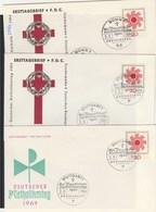 BRD  Ersttagsbriefe   3x   MiNr. 444 - BRD