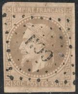 Colonies Générales Yvert 9 Oblit. CCH Petit Clair Cote EUR 70 (numéro Du Lot KB11) - Napoléon III
