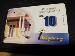 CURACAO NAF 10,- PREPAID I-TELEPHONY THICK CARD  FINE  USED      ** 1696** - Antille (Olandesi)