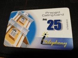 CURACAO NAF 25,- PREPAID I-TELEPHONY THICK CARD  FINE  USED      ** 1697** - Antille (Olandesi)