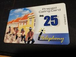 CURACAO NAF 25,- PREPAID I-TELEPHONY THICK CARD  FINE  USED      ** 1698** - Antille (Olandesi)
