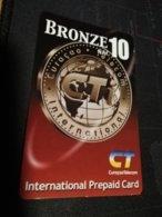 CURACAO NAF 10,- CT BRONZE   FINE  USED      ** 1699** - Antille (Olandesi)