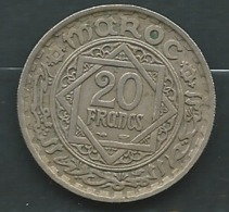 20 FRANCS MAROC EMPIRE CHERIFIEN 1366   Pieb23401 - Marokko