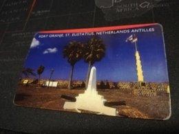 ST EUSTATIUS FORT ORANJE $5,-    FINE  USED      ** 1703** - Antille (Olandesi)