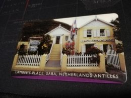 SABA LAMBEES PLACE  $10-    FINE  USED      ** 1704** - Antille (Olandesi)